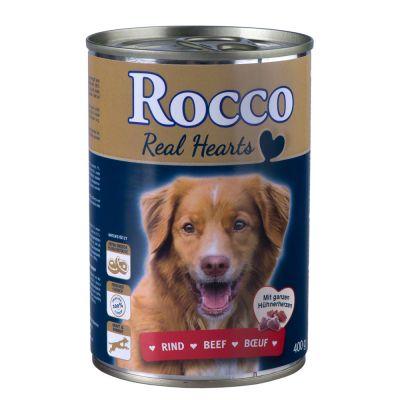 Rocco Real Hearts, 6 x 400 g - - Kurczak z całymi sercami kurczaka
