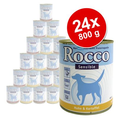 Rocco Sensible Value Pack 24 x 800 g - 4 Different Flavours