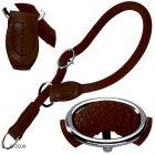 Hunter Training Nylon Collar Freestyle Brown - Size max. 55 cm,  10 mm - Dog Leads & Collars