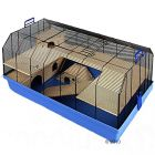 Alexander Small Pet Cage - Base blue:  101 x 52.5 x 51 cm (L x W x H) - Small Pet Supplies