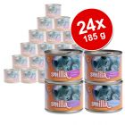 24 x 185 g Smilla Fish Pot Savings Pack - Taster Pack with 4 flavours