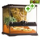 Hagen Exo Terra Glass Terrarium with Back Wall - Size: 30 x 30 x 30 cm (L x W x H) - Reptile Supplies