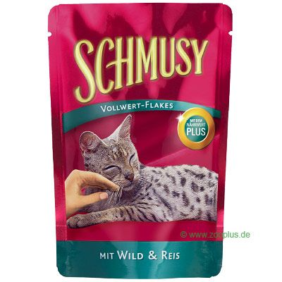Savings Pack Schmusy Whole Food Flakes 20 x 100 g - Chicken & Rice