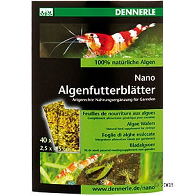Dennerle Nano Algae Food Leaves - 40 pieces