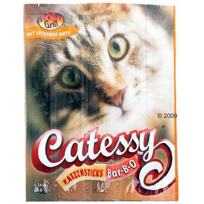 Bâtonnets pour chat à mâcher Catessy Bar-B-Q au canard- 15 bâtonnets