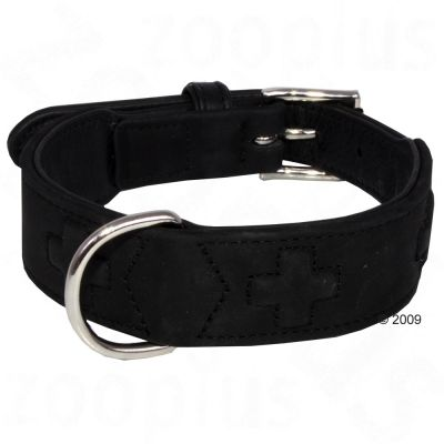 Hunter Leather Collar Zurich Black - Size 55: 41 – 49 cm circumference