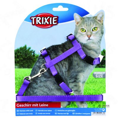 Trixie Cat Travel Set with Snap Buckles - black