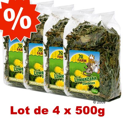 Lot JR Farm Pissenlits pour rongeur - 4 x 500 g