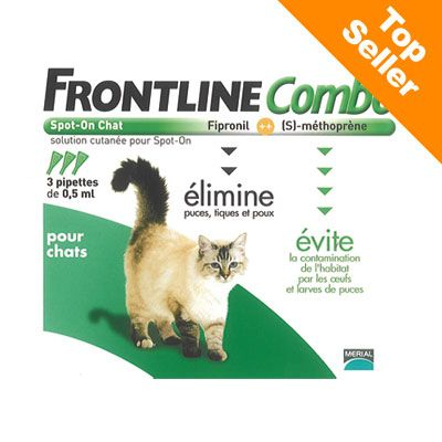 Antiparasitaire pour chat Frontline combo- 3 pipettes