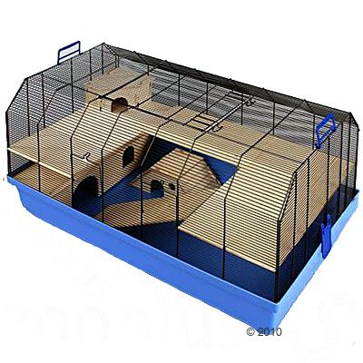 Alexander Small Pet Cage - Base blue:  101 x 52.5 x 51 cm (L x W x H)