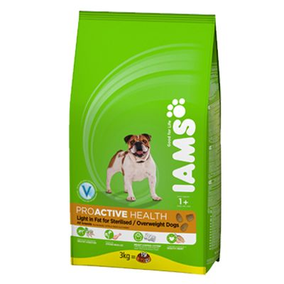 Iams Proactive Health Adult Dog Light in Fat Chicken - 12kg