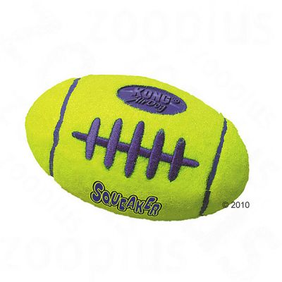 Kong Rugby Ball with Squeaker - large (19 cm x 10 cm)