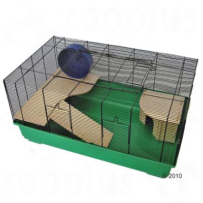 Barney Pet Cage - green: 82 x 51 x 40 cm (LxWxH)