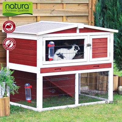 Trixie Natura Rabbit Hutch with Run - 123 × 76 × 96 cm (L x W x H)