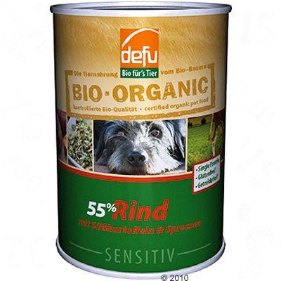 Defu Organic 55% Pure Sensitive 6 x 400 g - Lamb with Apples & Parsnip