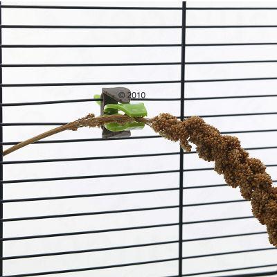 Mangeoire Pince pour rongeur et oiseau - L 6 x l 3 cm (2 pinces)