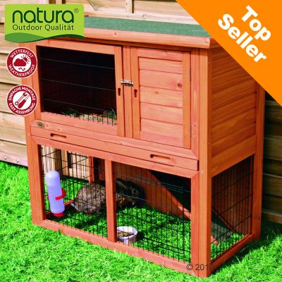 Trixie Natura Single Rabbit Hutch with Run - 104 x 52 x 97 cm (LxWxH)