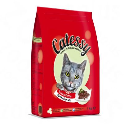 Catessy Dry Cat Food Adult - Hearty Mix - Economy Pack: 2 x 4kg