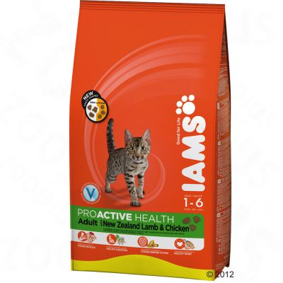 Iams Proactive Health Adult Cat - New Zealand Lamb & Chicken - Economy Pack: 2 x 10kg