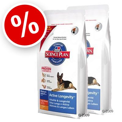 Hill's Mature Adult 5+ Active Longevity Large Breed - Economy Pack: 2 x 12 kg