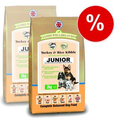 James Wellbeloved Complete Junior Turkey & Rice - Economy Pack: 2 x 15 kg