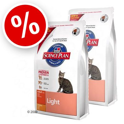 Science Plan Feline Adult Light Chicken - Economy Pack:  2 x 10 kg