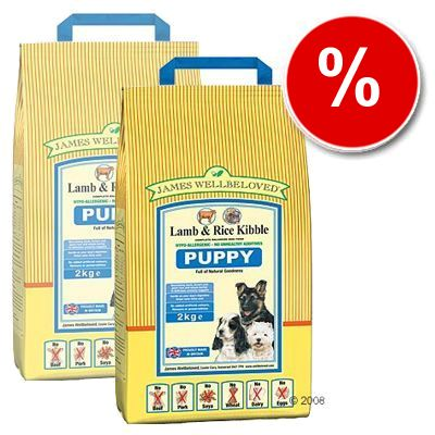 James Wellbeloved Puppy Complete Lamb & Rice - Economy Pack: 2 x 15 kg