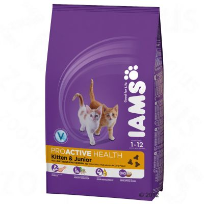 Iams Proactive Health Kitten & Junior Cat - Roast Chicken - 2.55kg
