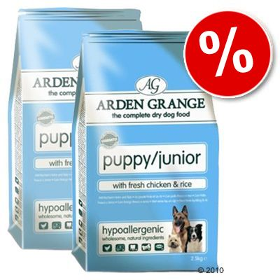 Arden Grange Dog Puppy/Junior Chicken & Rice - Economy Pack: 2 x 15 kg