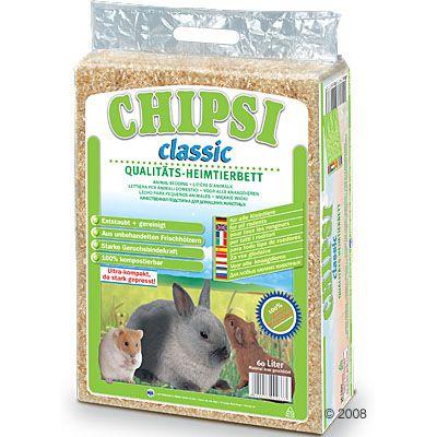 Litiere Chipsi Classic pour rongeur - 60 L (3,6 kg environ)