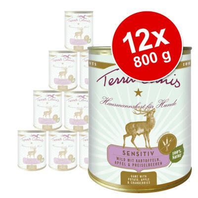 Terra Canis Sensitive Saver Pack 12 x 800g - Beef with Courgette, Squash & Oregano
