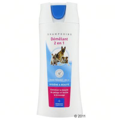 Shampooing démêlant 2 en 1 Demavic pour chien- 250 ml
