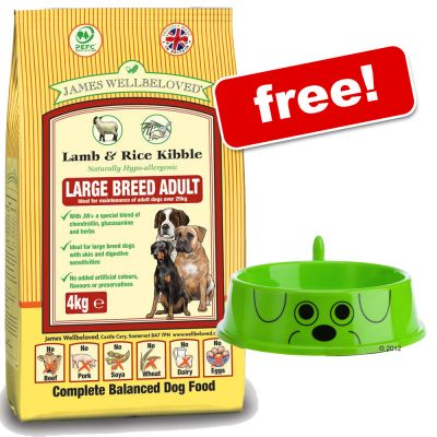 Large Bags James Wellbeloved + zooplus Dog Bowl Free! - Adult Turkey & Vegetable Cereal Free (10kg)