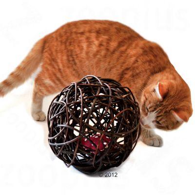 Balle en osier pour chat à la valériane- 1 balle