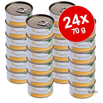 Applaws Cat Food Savings Pack 24 x 70 g - Chicken Breast & Pumpkin