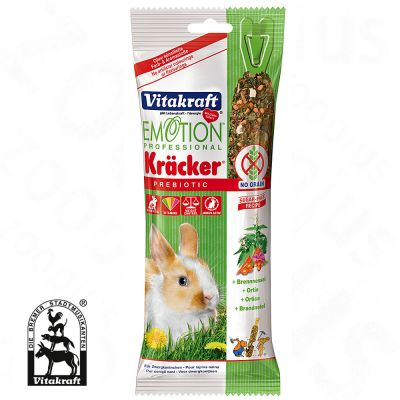 Vitakraft Emotion Professional Crackers pour lapin nain - 4 x ortie