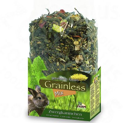 JR Grainless Mix sans cereales pour lapin nain - 2 x 1,7 kg