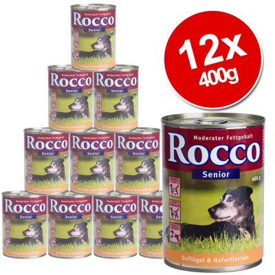 Rocco Senior Saver Pack 12 x 400g - Poultry & Oats