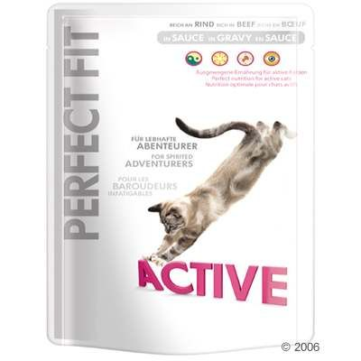 Perfect Fit Active Pouches - Saver Pack: 24 x 85 g Beef in Gravy
