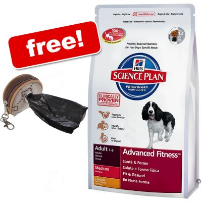 Hill's Science Plan + Dog Poop Bag Dispenser Free!* - Adult Light - Chicken (12kg)