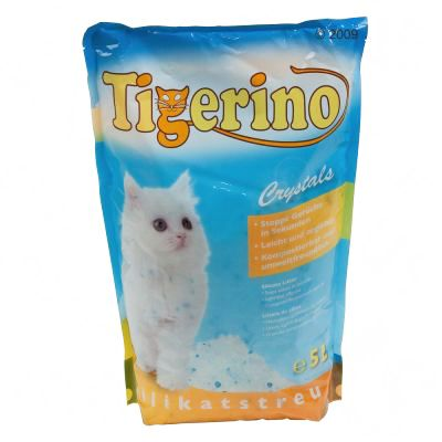 Tigerino Crystals Silicate Cat Litter - Economy Pack: 3 x 5 litre