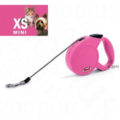Dog Lead Flexi Classic Basic Mini - 3 m - pink