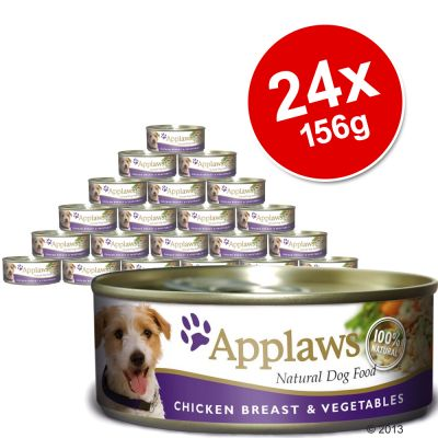 Applaws Dog Food Saver Pack 24 x 156g - Chicken with Ham & Vegetables