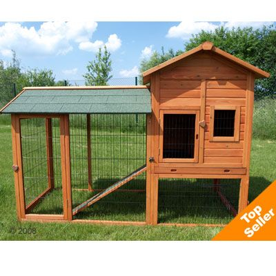 Outback Rabbit Hutch Deluxe with Run - 211 x 97.6 x 150 cm (LxWxH) (Price includ