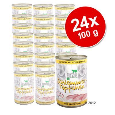 Lot économique Grau menu gourmand 24 x 400 g- coeur, foie et riz complet