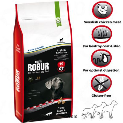 Bozita Robur Light & Sensitive 19/07 - 1.5 kg