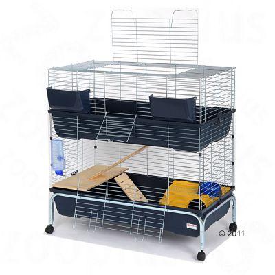 Cage Essegi Baffy 100 a 2 niveaux pour rongeur - L 100 x l 53 x H 102 cm