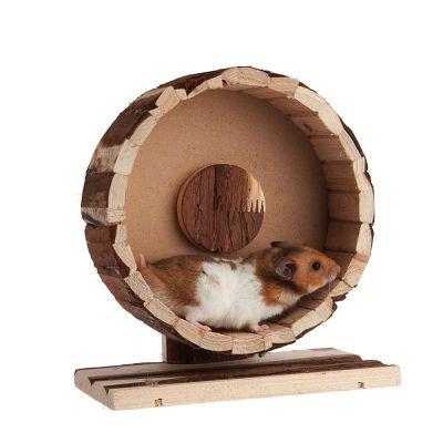Roue en bois Speedy pour rongeur - 29 cm de diametre, H 10 cm