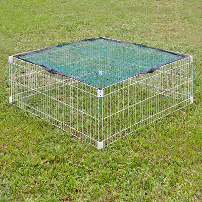 Enclos carre pour rongeur - enclos avec filet de protection : L 115 x l 115 cm x H 52 cm