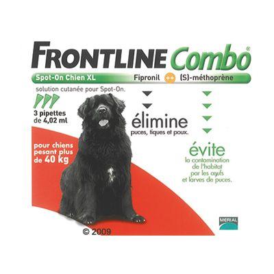 Frontline combo pour chien de très grande taille - 40/60 kg- 6 pipettes